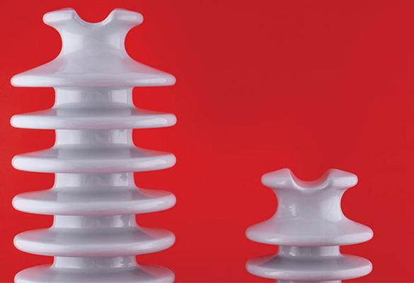 Isolador tipo pilar de porcelana